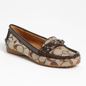 Coach Brown Fortunata Loafer Flat